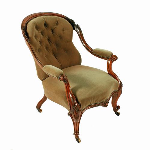 Victorian Rosewood Gent's Armchair (1 of 8)