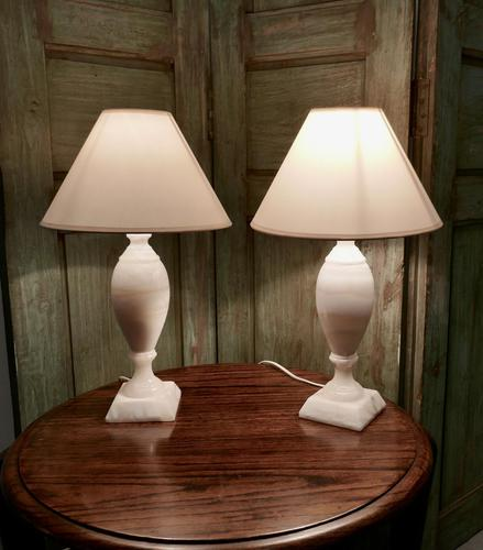 Pair of Art Deco Marble Table Lamps (1 of 5)