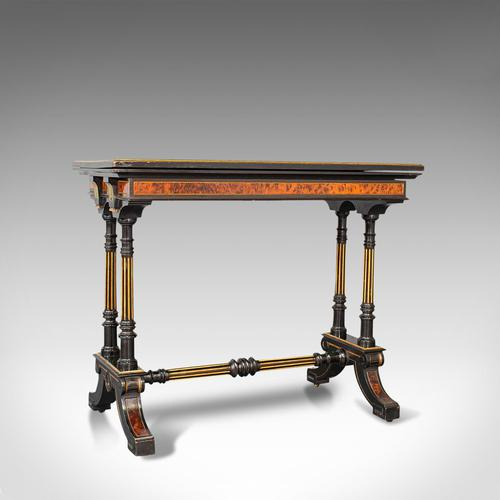 Antique Card Table, Ebonised, Games, Gillow & Co, Aesthetic Period c.1875 (1 of 12)