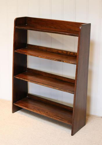 Solid Oak Graduated Bookshelves (1 of 8)