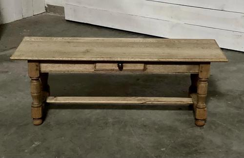 Large French Bleached Oak Coffee Table (1 of 14)