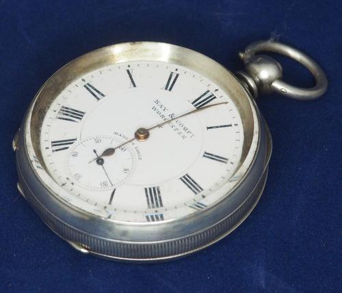 Antique Silver Pocket Watch Keyless Wind Open Face Pocket Watch Kay & Comp (1 of 10)