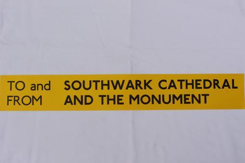 London Transport Slipboard Poster for Southwark Cathedral (1 of 1)