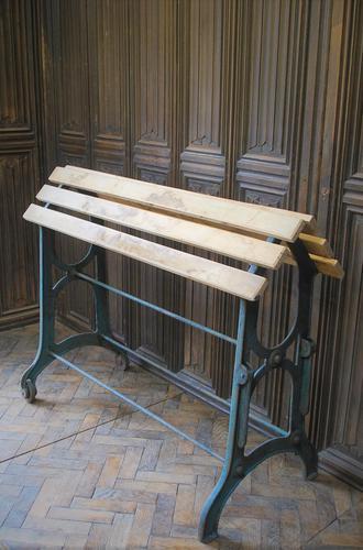 Antique Wrough Iron French Saddle Rack (1 of 4)