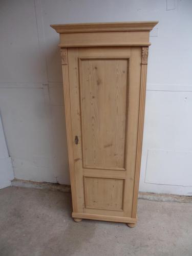 Antique Pine 1 Door Multi Functional Storage Shoe Cupboard to wax / paint (1 of 9)