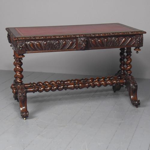 Antique Oak Flemish Writing Table (1 of 15)
