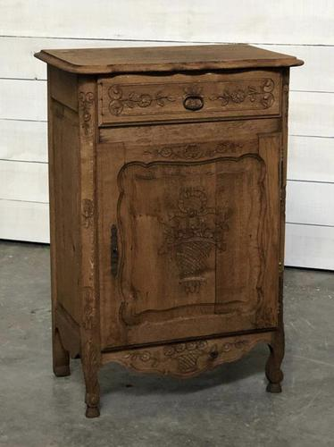 French Early Oak Small Cupboard or Cabinet (1 of 16)