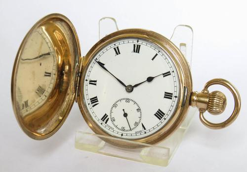 1920s Swiss Full Hunter Pocket Watch (1 of 5)