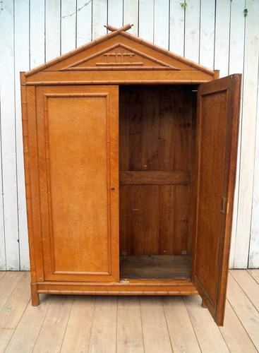 French Faux Bamboo Cupboard (1 of 9)