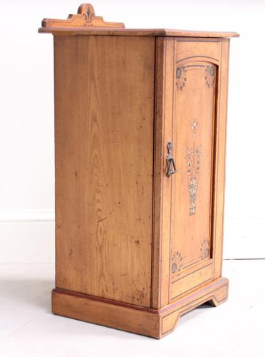 19th Century Pitch Pine Bedside Cabinet (1 of 13)