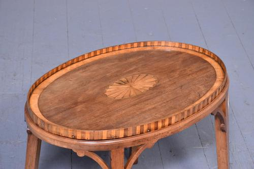 Georgian-style Inlaid Mahogany Tray on Stand (1 of 5)
