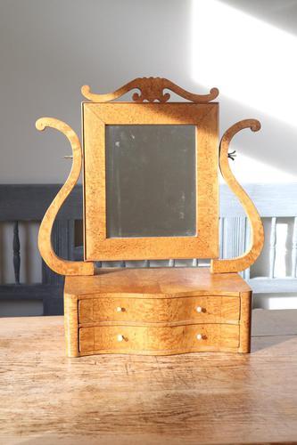 Swedish Birch / Masurbjörk Box Mirror Rococo style c.1820 (1 of 15)