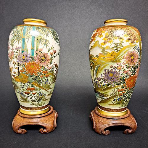Pair of Chinese Vases on Stands (1 of 6)