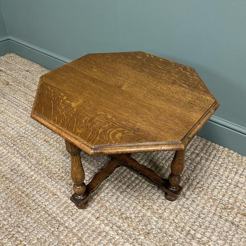 Quality Edwardian Oak Antique Coffee Table (1 of 5)