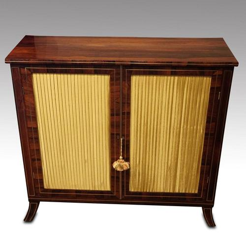 Regency Brass Inlaid Rosewood Side Cabinet (1 of 8)