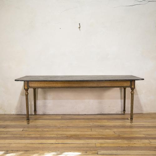 18th Century Faux Quilted Maple Painted Swedish Table (1 of 16)