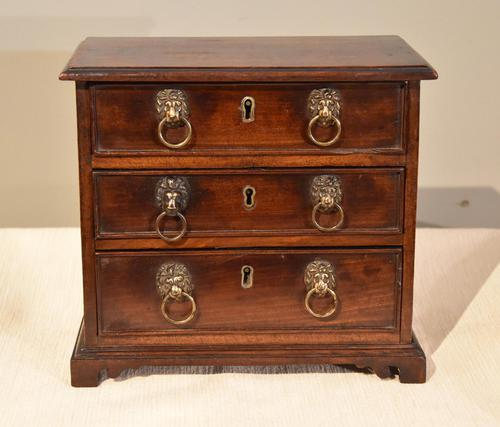 Miniature Mahogany Chest of Drawers (1 of 6)