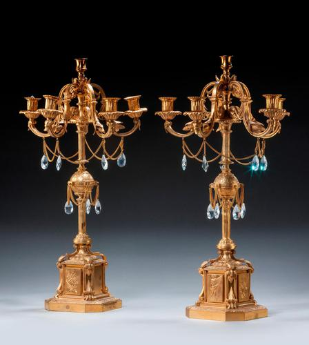 Fine 19th Century French Gilt Bronze Candelabra (1 of 6)