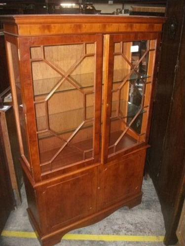Glazed Display Cabinet on Double Cupboard (1 of 3)