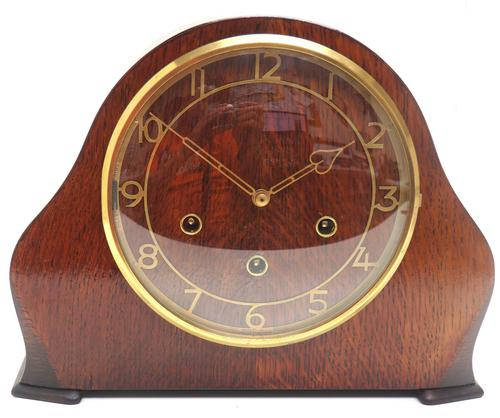 Wow! Fine Arched Top Art Deco Mantel Clock – Musical Westminster Chiming 8-day Mantle Clock (1 of 9)