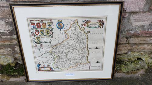Johann Blaeu Map of Northumberland 1648 (1 of 6)