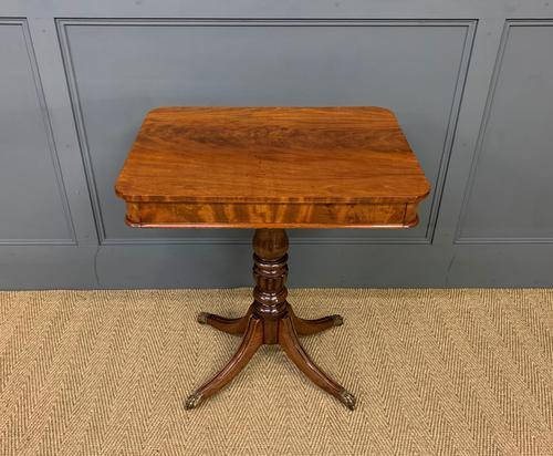 19th Century Flame Mahogany Lamp Table (1 of 10)