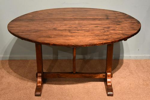 French Provincial Poplar Fruitwood Vondage Dining Table (1 of 4)