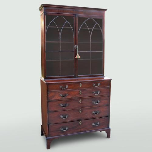 Mahogany Secretaire Bookcase (1 of 5)