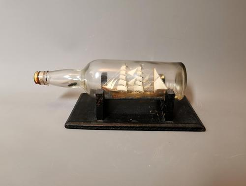 Antique Ship in a Bottle, Nautical (1 of 12)