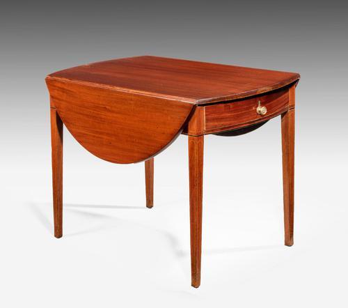 George III Mahogany Oval Pembroke Table (1 of 4)