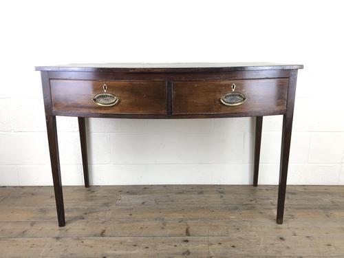 Georgian Mahogany Bow Front Side Table (1 of 14)