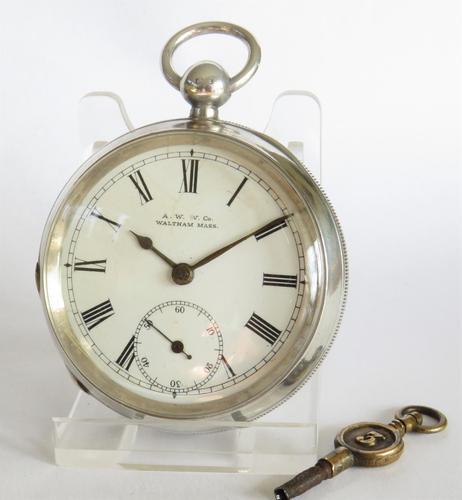 Antique silver Waltham pocket watch (1 of 6)