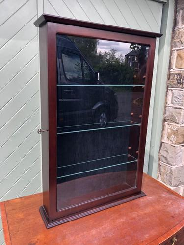 Mahogany Glazed Shop Display Cabinet (1 of 5)
