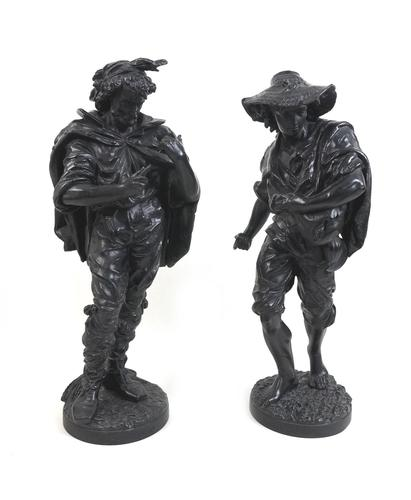Two Early 20th Century Spelter Figures (1 of 11)