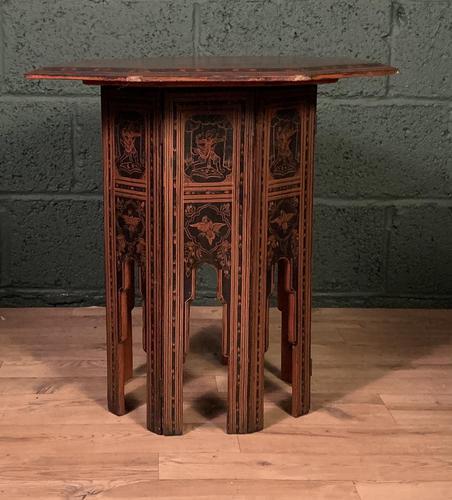 Decorative Burmese chai or tea table (1 of 8)