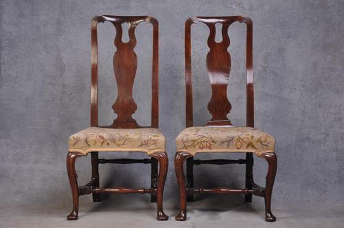Pair Of Early 18th Century Walnut Side Chairs (1 of 8)