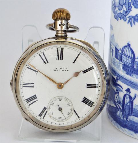 Antique Waltham Hillside Pocket Watch, 1886 (1 of 6)