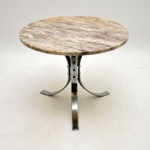 1960's Vintage Marble & Chrome Coffee Table (1 of 8)