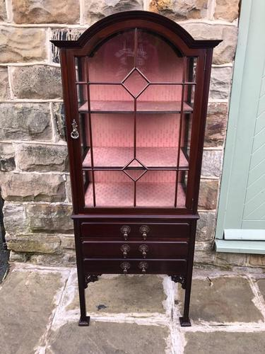 Antique Mahogany Display Music Cabinet (1 of 9)