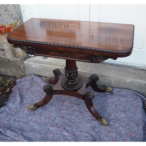 Classical Regency Rosewood Card Table (1 of 9)