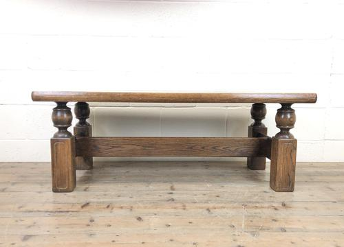Vintage Solid Oak Low Occasional Table (1 of 7)