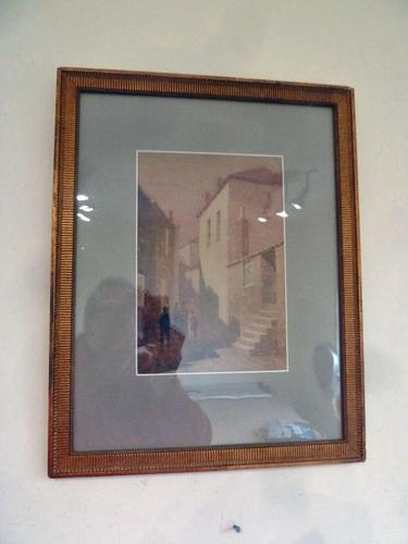 """Arthur White , St Ives School Watercolour """" Village """"  1 of 2 listed. (1 of 3)"""