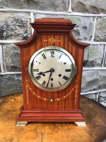 Antique Inlaid Mahogany Bracket Clock (1 of 8)
