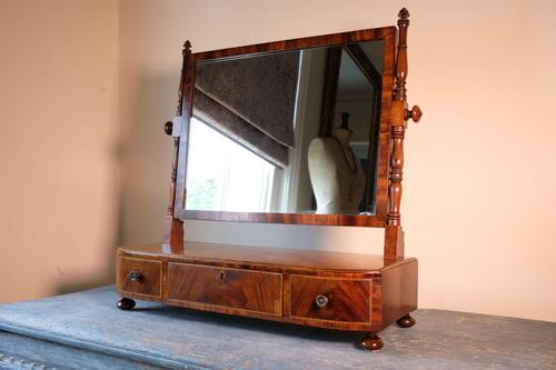 19th Century Mahogany Dressing Table Mirror with Three Drawers (1 of 21)