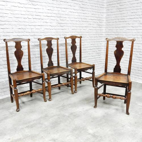 Set of 4 Early 19th Century Country Dining Chairs (1 of 8)
