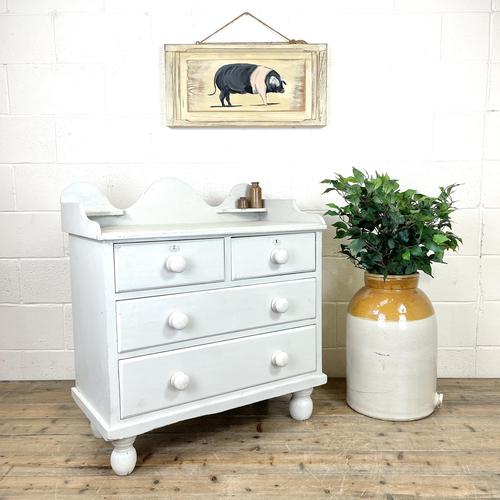 Painted Victorian Pine Chest of Drawers (1 of 10)