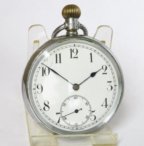Swiss 1930s Stem Winding Pocket Watch (1 of 6)