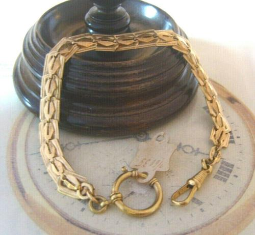 Antique Pocket Watch Chain 1920s Large Brass Fancy Link Albert New Old Stock (1 of 12)