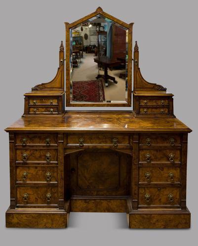 C1890 Burr Walnut Maple & Co Dressing Table (1 of 5)