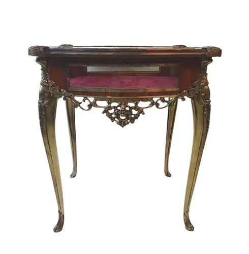 19th Century Brass & Kingwood Bijouterie Table (1 of 5)
